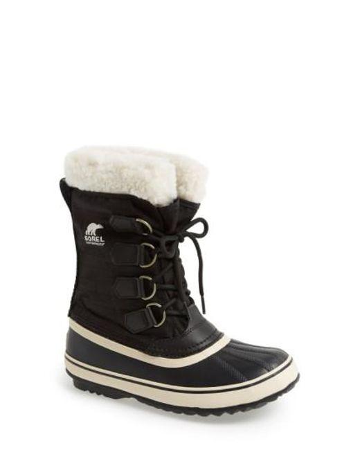 Sorel | Black 'winter Carnival' Boot | Lyst