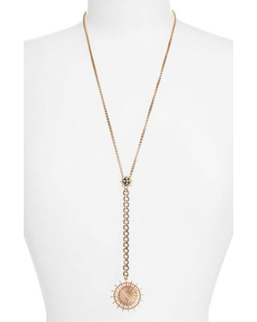 Jenny Packham | Metallic Light Up The Night Y-necklace | Lyst