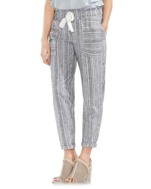 Vince Camuto - Multicolor Slim Drawstring Stripe Pants - Lyst
