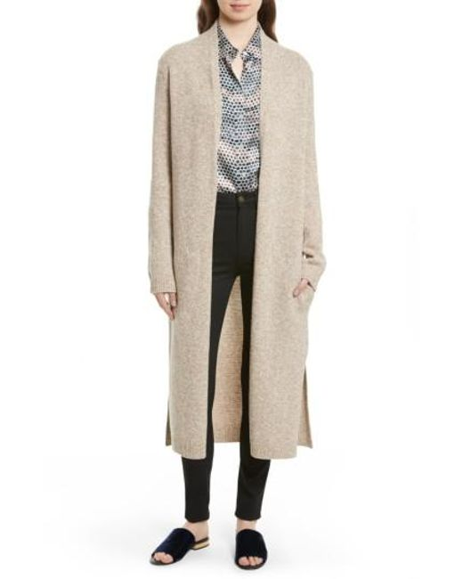 Equipment Thoren Long Wool Cardigan in Natural - Save 50% | Lyst