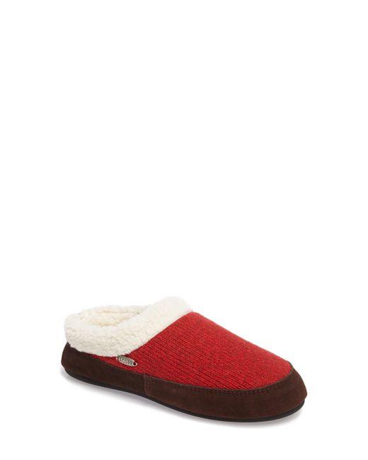 Acorn Red Ragg Mule Slipper
