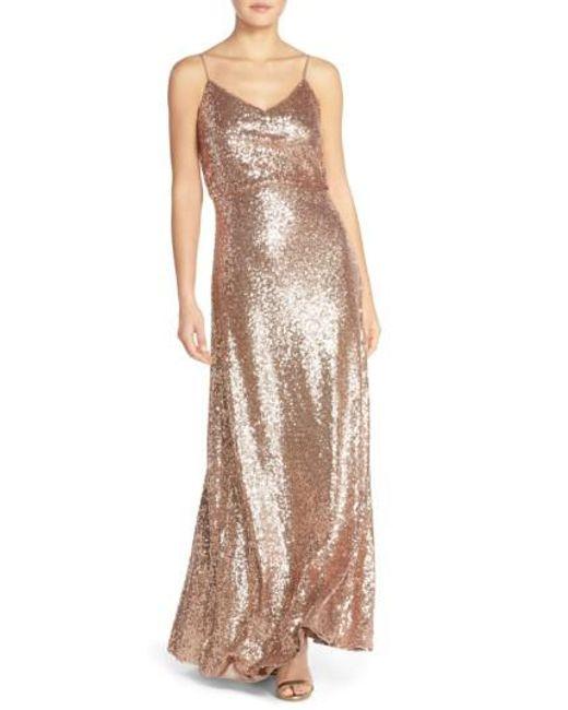 Jenny Yoo | Metallic Jules Sequin Blouson Gown | Lyst