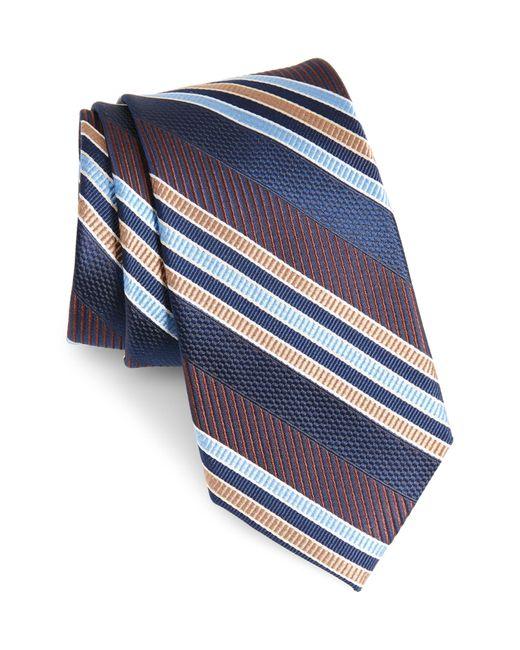 Nordstrom Brown Northwest Stripe Silk Tie for men