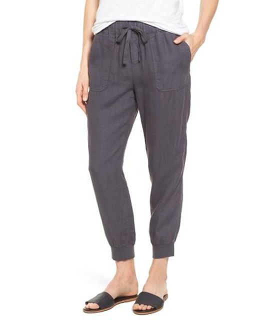 Caslon - Gray Caslon Linen Jogger Pants - Lyst