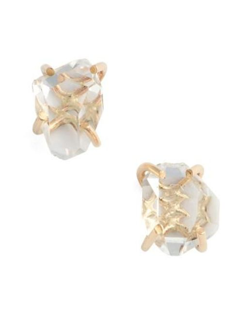 Melissa Joy Manning | Metallic Herkimer Stud Earrings | Lyst