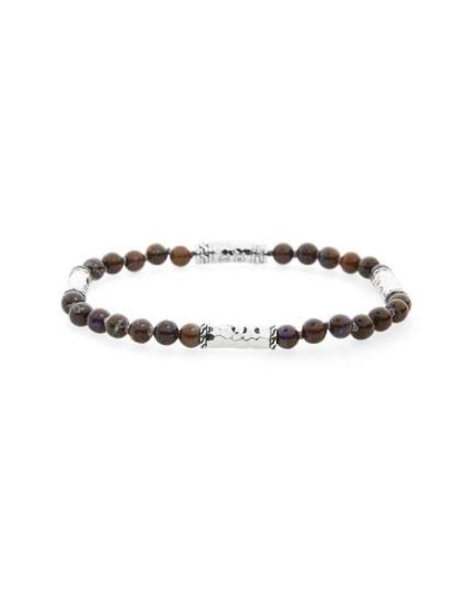 John Hardy - Brown Classic Chain Silver Bracelet for Men - Lyst