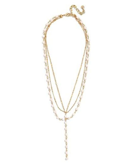 BaubleBar - Metallic Odelia Layered Y-chain Necklace - Lyst