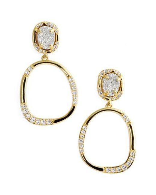 Melinda Maria | Metallic Luna Drop Earrings | Lyst