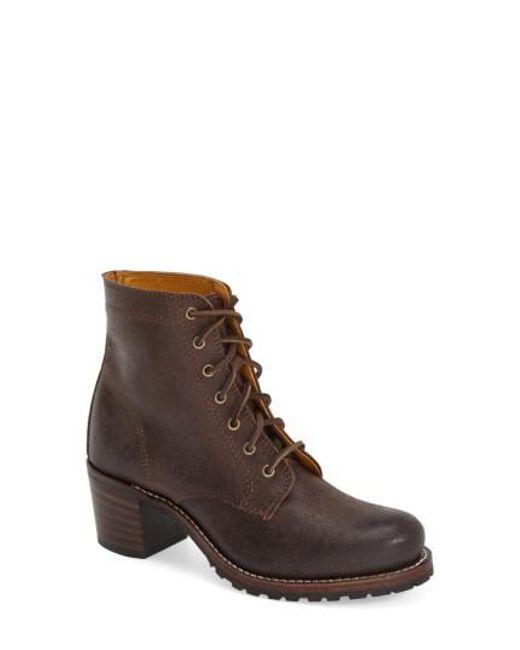 Frye - Brown 'sabrina' Boot - Lyst