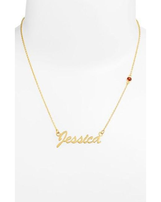 Argento Vivo - Metallic Birthstone & Personalized Nameplate Pendant Necklace (nordstrom Online Exclusive) - Lyst