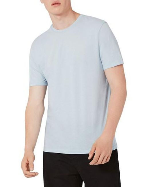 Topman | Blue Lightweight Cotton T-shirt for Men | Lyst
