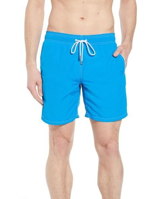 Bugatchi - Blue Swim Trunks for Men - Lyst