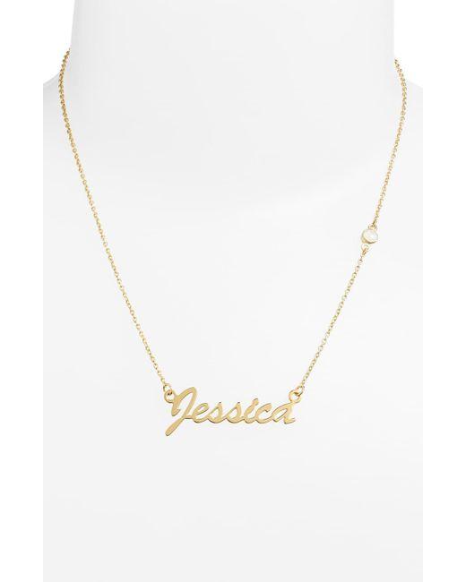 Argento Vivo Metallic Birthstone & Personalized Nameplate Pendant Necklace (nordstrom Online Exclusive)