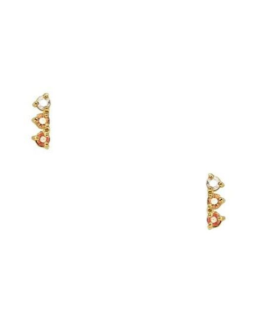 Wwake - White Counting Collection Three-step Emerald Statement Earrings (nordstrom Exclusive) - Lyst
