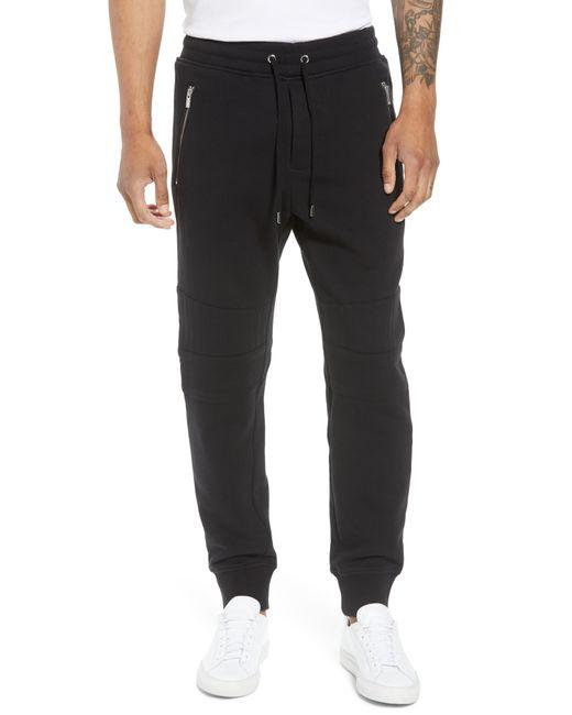 The Kooples - Black Classic Slim Fit Fleece Joggers for Men - Lyst