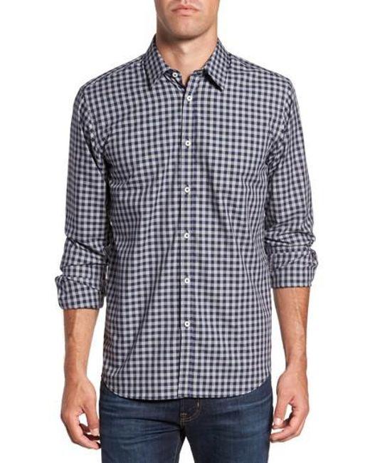 Jeremy Argyle Nyc | Gray Slim Fit Check Sport Shirt for Men | Lyst
