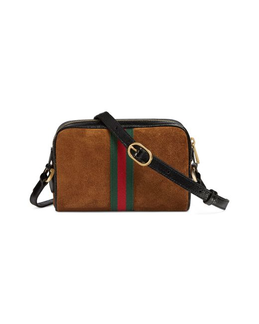 fce2fae206fdac ... Gucci - Multicolor Ophidia Small Suede & Leather Crossbody Bag - - Lyst