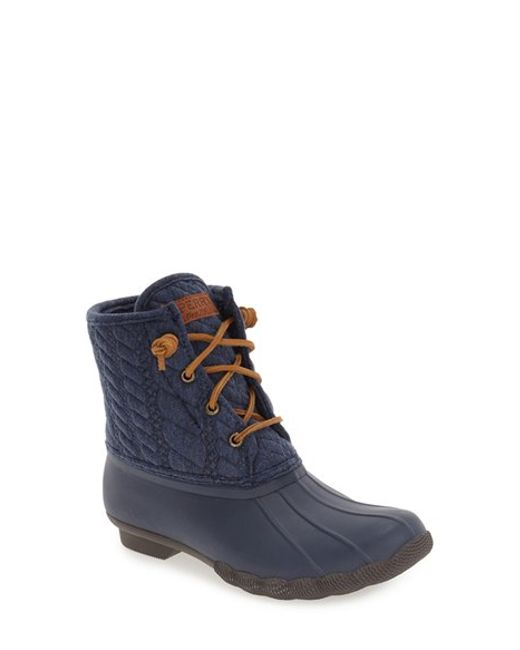 Sperry Top-Sider | Brown 'saltwater' Duck Boot | Lyst