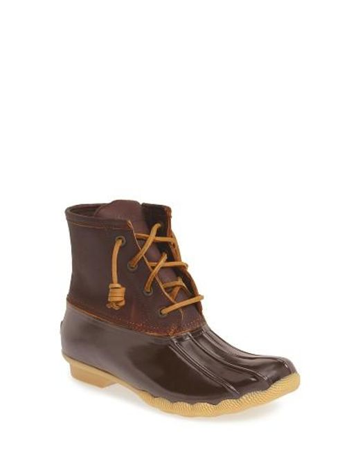 Sperry Top-Sider | Brown 'saltwater' Duck Boot | Lyst