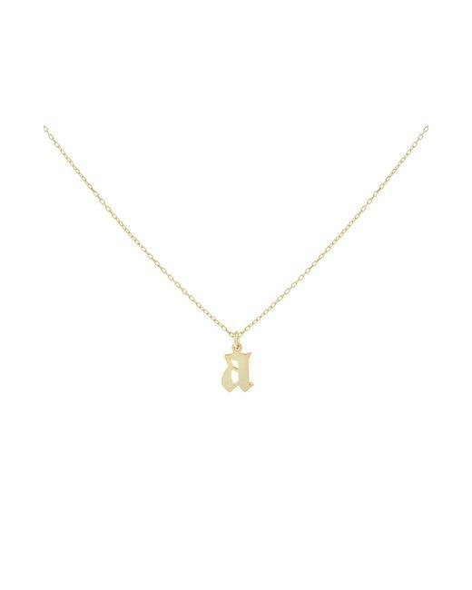ADINAS JEWELS Metallic Gothic Initial Necklace