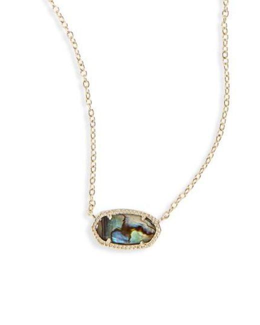 Kendra Scott   Blue Elisa Pendant Necklace   Lyst