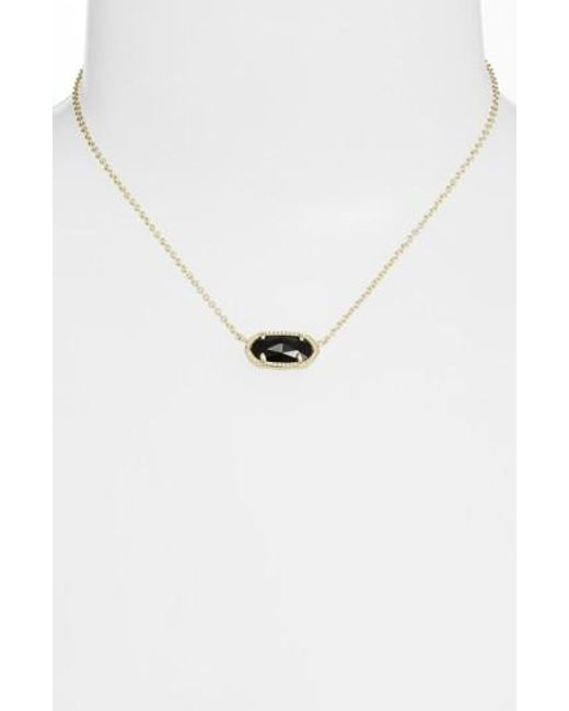 Kendra Scott | Black Elisa Pendant Necklace | Lyst