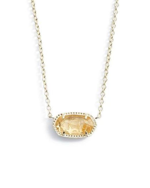 Kendra Scott | Metallic Elisa Birthstone Pendant Necklace | Lyst
