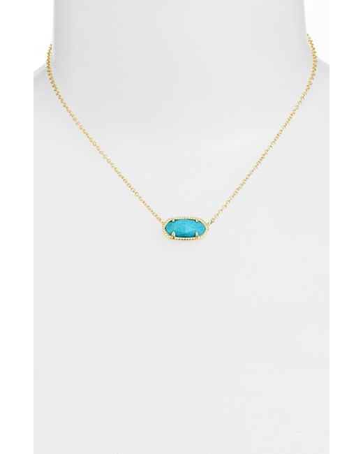 Kendra Scott | Blue Elisa Pendant Necklace | Lyst