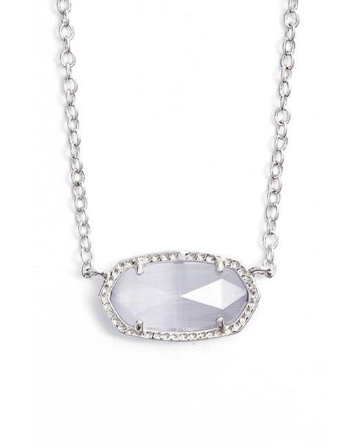 Kendra Scott | Gray Elisa Pendant Necklace | Lyst