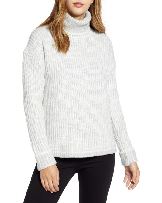 Caslon White Caslon Turtleneck Sweater