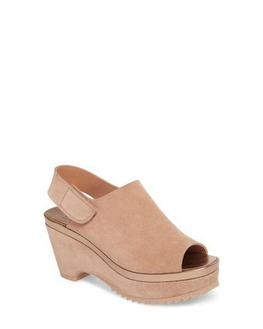 Pedro Garcia - Brown Felipa Slingback Wedge - Lyst