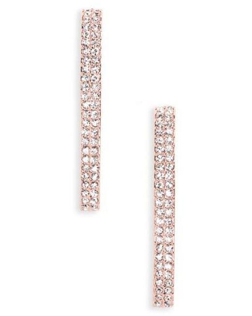 Nadri | Metallic Linear Crystal Earrings | Lyst