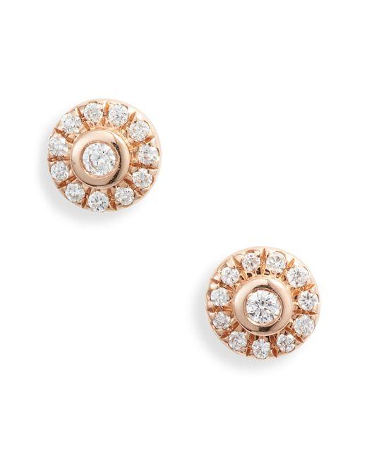 Dana Rebecca Metallic Lauren Joy Mini Diamond Disc Stud Earrings