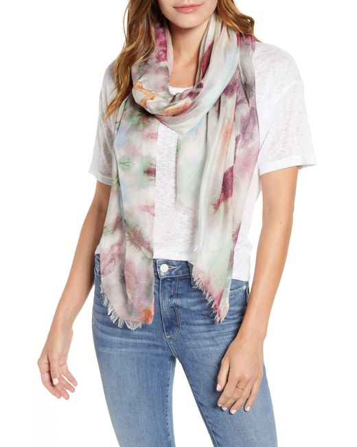 Nordstrom Multicolor Silk Gauze Scarf