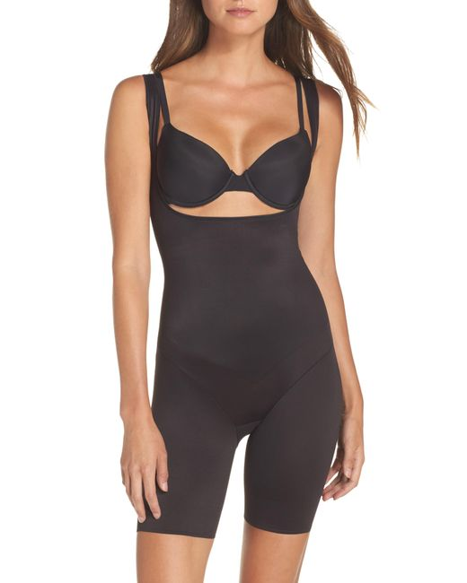 Tc Fine Intimates - Black Torsette Underbust Mid Thigh Bodysuit Shaper - Lyst