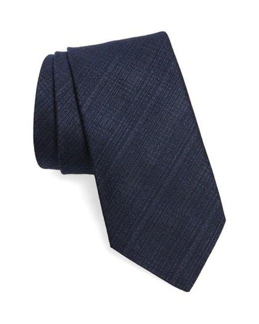 John Varvatos - Blue Crosshatch Tie for Men - Lyst