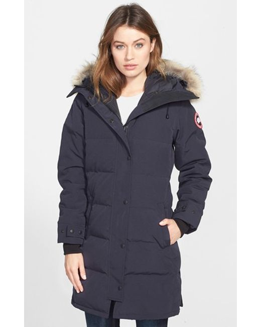 Canada Goose | Blue Shelburne Genuine Coyote Fur Trim Down Parka | Lyst