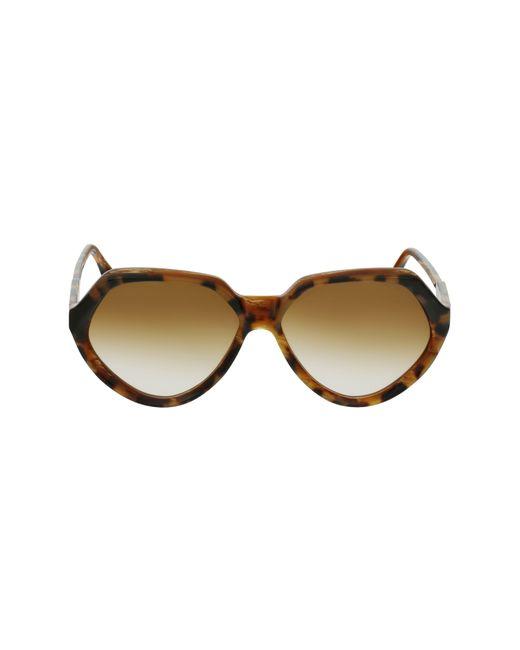 Victoria Beckham Multicolor 60mm Gradient Rectangle Sunglasses - Havana/ Horn for men