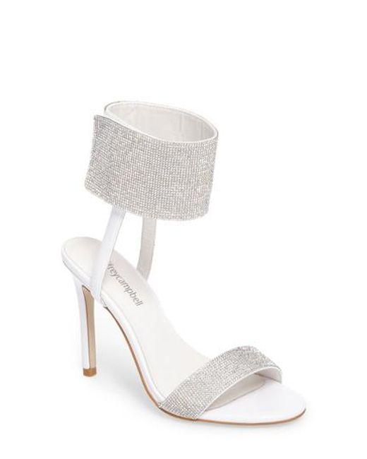 Jeffrey Campbell Women's Embellished Ankle Strap Sandal vLtlXLb