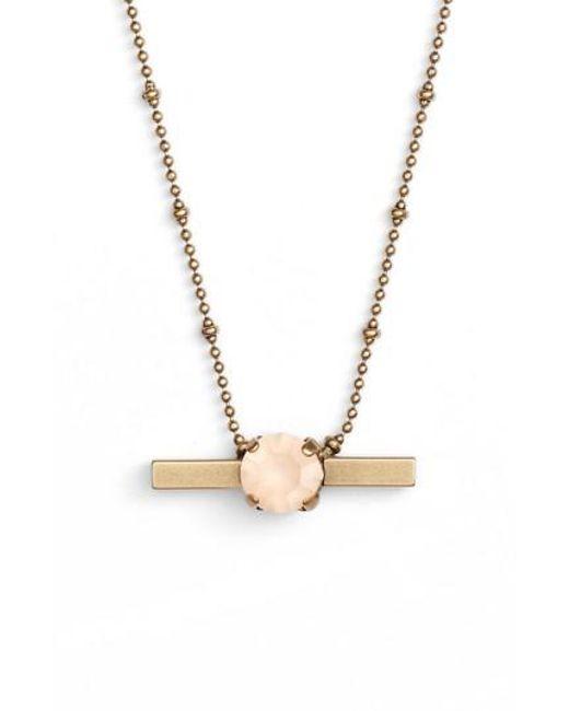 Loren Hope - Metallic Nora Crystal Bar Necklace - Lyst