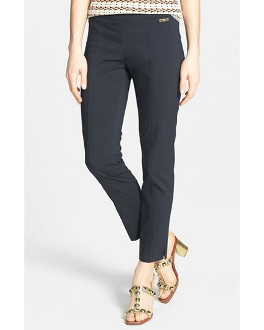 Tory Burch | Blue 'callie' Seamed Crop Pants | Lyst