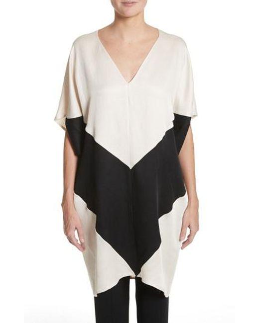 Zero + Maria Cornejo - Black Colorblock Dress - Lyst