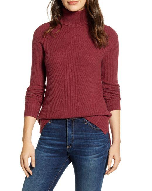 Caslon Caslon Textured Turtleneck Sweater