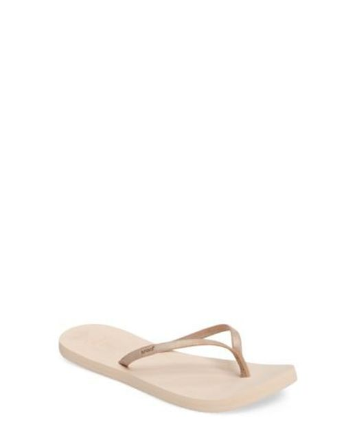 Reef | Natural Bliss Nights Flip Flop | Lyst