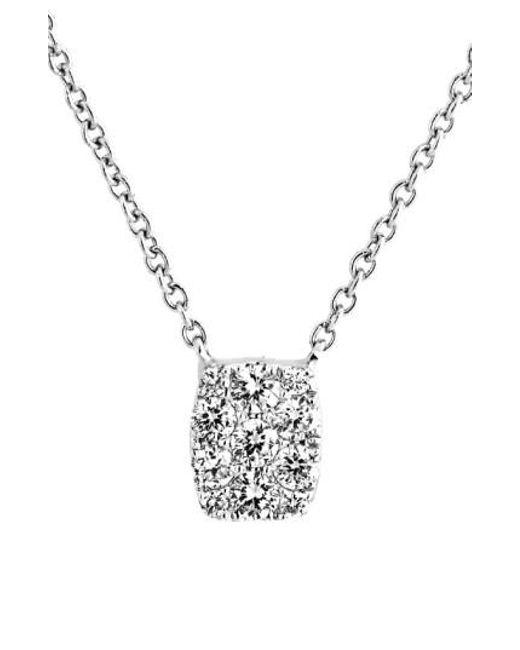 Bony Levy   Metallic 'mika' Mini Rectangle Pave Diamond Pendant Necklace (nordstrom Exclusive)   Lyst