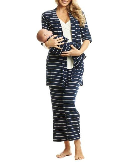 Everly Grey - Blue Roxanne - During & After 5-piece Maternity Sleepwear Set - Lyst