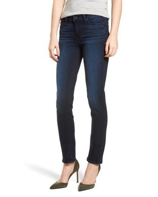 PAIGE - Blue Transcend Vintage - Skyline Skinny Jeans - Lyst