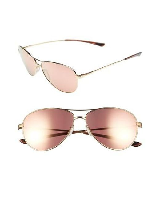Smith - Pink 'langley' 60mm Aviator Sunglasses - - Lyst