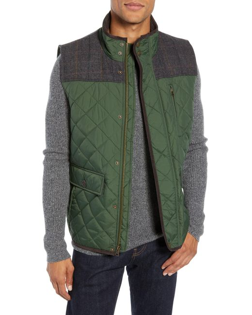Vince Camuto Green Quilted Vest for men