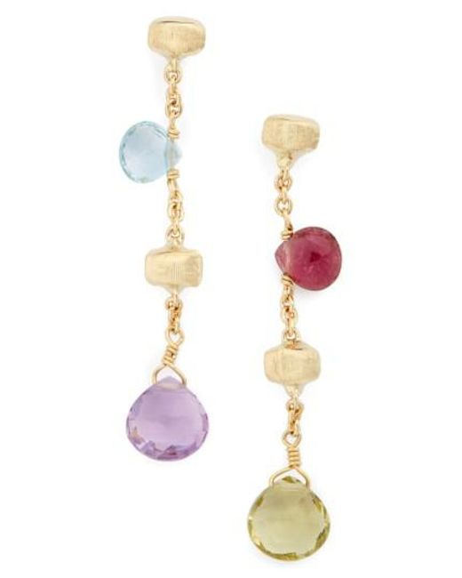 Marco Bicego - Multicolor 'paradise' Drop Earrings - Lyst